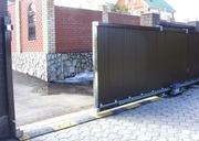 Откатные ворота из металллопрофиля и панелей. Рассрочка до 24 мес.
